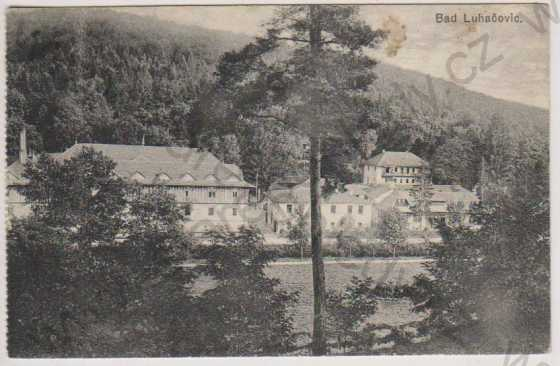 Lázně Luhačovice (Bad Luhačovic), domy u řeky