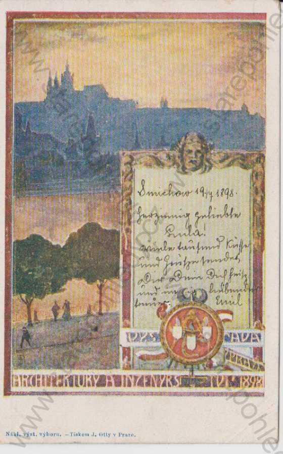 Výstava architektury a inženýrství 1898, barevná, DA