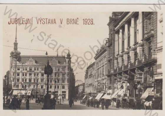 Brno (Brünn), partie Velké náměstí, jubilejní výstava 1928
